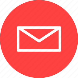circle, email, letter, mail, message, messages, red icon
