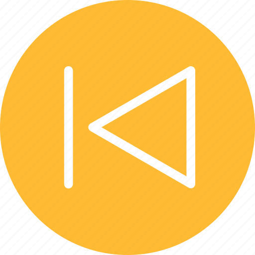 arrow, back, circle, left, previous, yellow icon