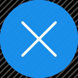 blue, cancel, circle, close, delete, exit, stop icon
