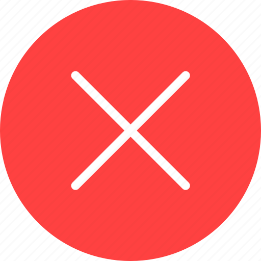 cancel, circle, close, delete, exit, red, stop icon