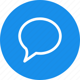 blue, chat, chatting, circle, comment, message icon