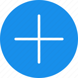 add, append, blue, circle, create, new, plus icon