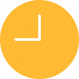 circle, clock, time, timing, watch, yellow icon