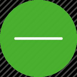 cancel, close, delete, exit, green, minus, remove icon