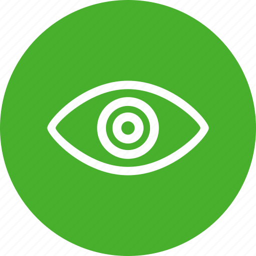 agent, circle, eye, green, security, spy icon