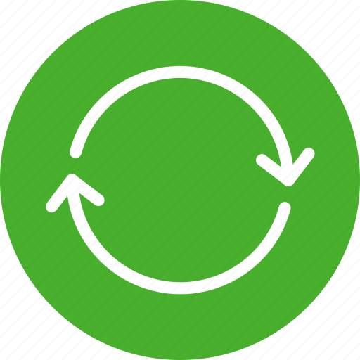arrows, circle, green, refresh, reload, sync icon