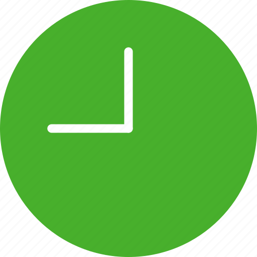 circle, clock, green, time, timing, watch icon