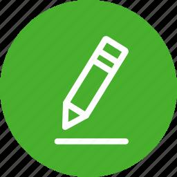 circle, edit, green, pen, pencil, write icon
