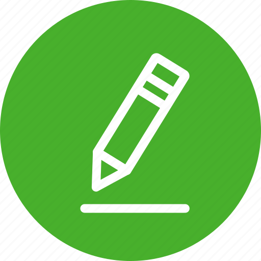 circle, edit, green, pen, pencil, write icon