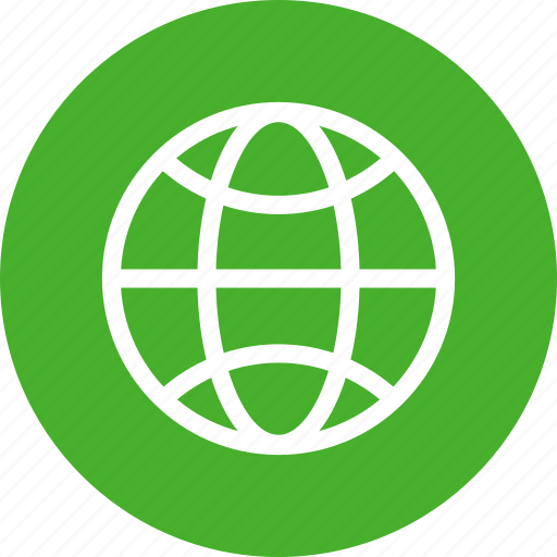 circle, earth, globe, green, planet, world icon