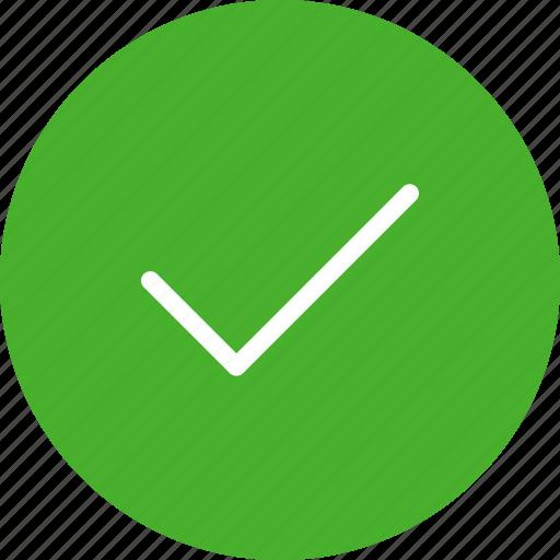 accept, check, circle, green, ok, success icon