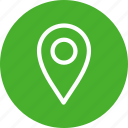 circle, gps, green, location, map, navigation, pin icon