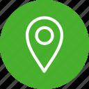 circle, gps, green, location, map, navigation, pin