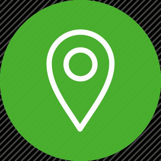 circle, gps, green, location, map, navigation, pin icon