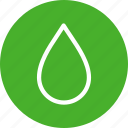 blood, circle, drop, green, water, weather icon
