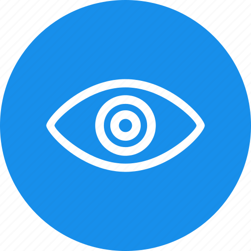 agent, blue, circle, eye, security, spy icon