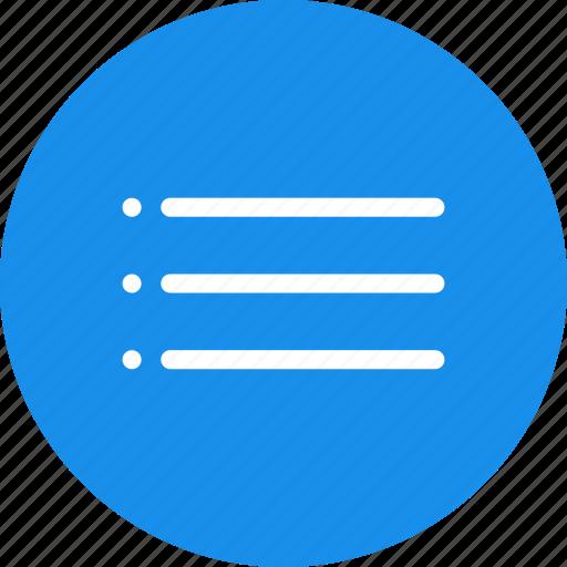 blue, bullet, circle, list, menu, navigation icon