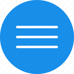 blue, circle, hamburger, list, menu, navigation icon