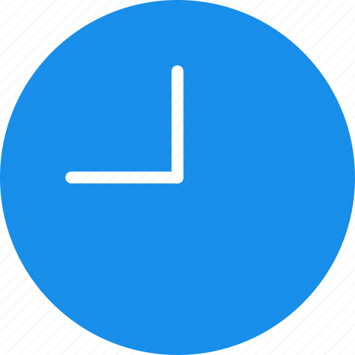 blue, circle, clock, time, timing, watch icon