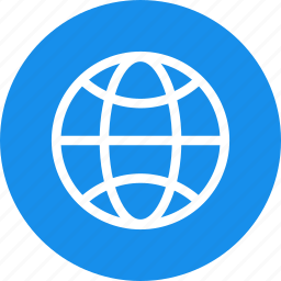 blue, circle, earth, globe, planet, world icon