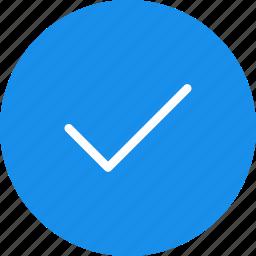 accept, blue, check, circle, ok, success icon