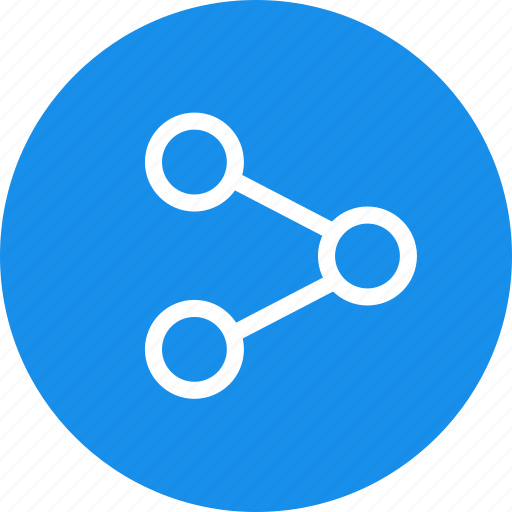 blue, circle, media, network, share, social icon