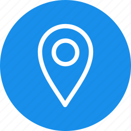 blue, circle, gps, location, map, navigation, pin icon