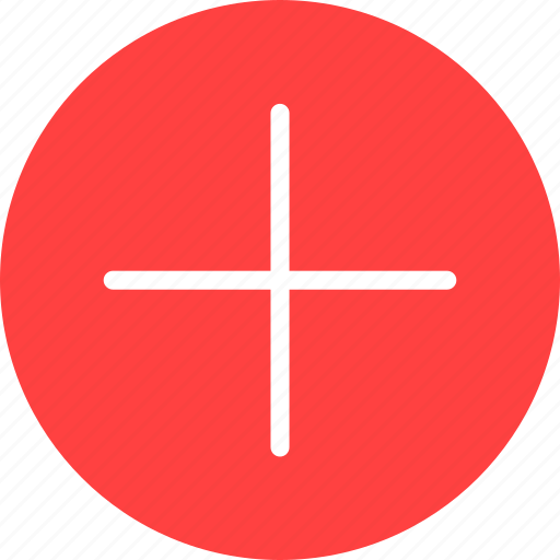 add, append, circle, create, new, plus, red icon