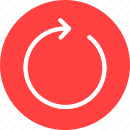 circle, red, refresh, reload, rotate, sync, update icon
