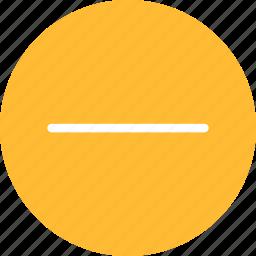 cancel, close, delete, exit, minus, remove, yellow icon