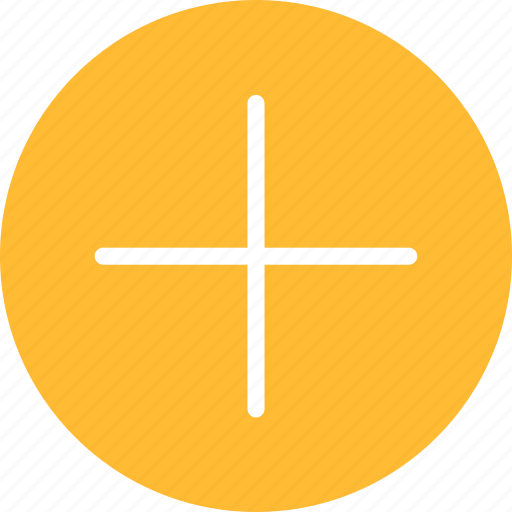 add, append, circle, create, new, plus, yellow icon