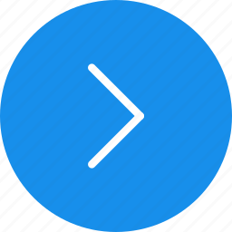 arrow, arrows, blue, circle, direction, next, right icon
