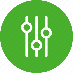 circle, green, options, preferences, settings icon