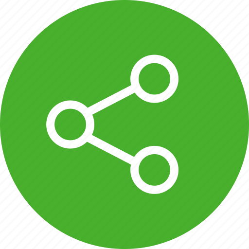 circle, green, media, network, share, social icon