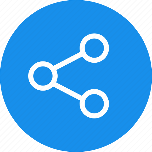 blue, circle, media, network, share, social icon