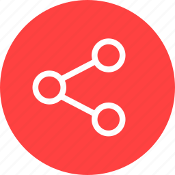 circle, media, network, red, share, social icon