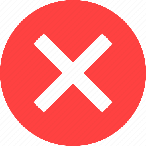 cancel, close, delete, exit, red, stop icon
