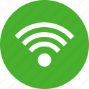 network, signal, wifi, green, internet, circle