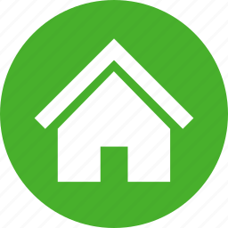 building, circle, estate, green, home, house, real icon