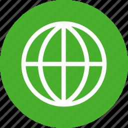 global, globe, green, international, language icon