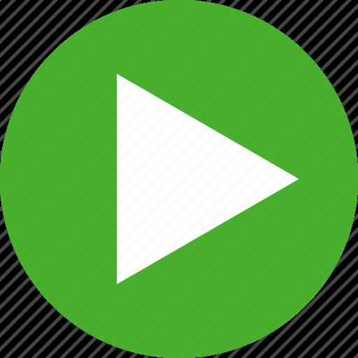circle, green, movie, next, play, start, video icon