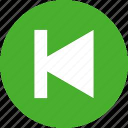 arrow, back, circle, green, left, previous icon