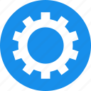 blue, circle, cog, customize, gear, preferences