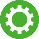 circle, cog, customize, gear, green, preferences