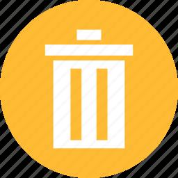 circle, delete, garbage, recycle, rubbish, yellow icon