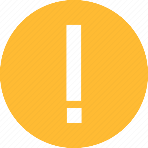 alert, caution, danger, error, exclamation, yellow icon