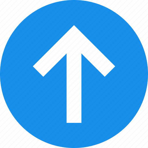 arrow, blue, circle, climb, direction, north icon