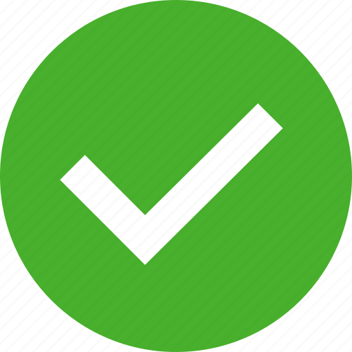approved, check, checkbox, circle, confirm, green icon