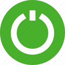 circle, close, exit, green, off, power icon