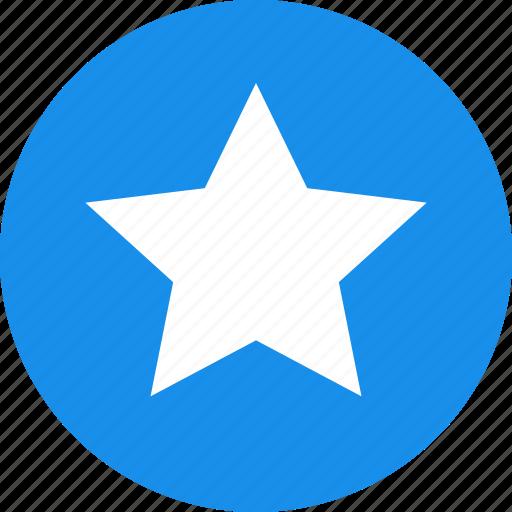 achievement, blue, bookmark, circle, favorite, ranking icon